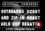 Image of motor boat race Long Beach California USA, 1937, second 6 stock footage video 65675038439