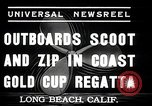 Image of motor boat race Long Beach California USA, 1937, second 9 stock footage video 65675038439