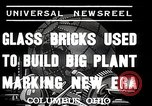 Image of Glass block building material at newspaper printing and press company Columbus Ohio USA, 1937, second 5 stock footage video 65675038440