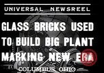 Image of Glass block building material at newspaper printing and press company Columbus Ohio USA, 1937, second 7 stock footage video 65675038440