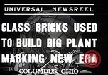Image of Glass block building material at newspaper printing and press company Columbus Ohio USA, 1937, second 8 stock footage video 65675038440