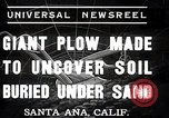 Image of giant plow Santa Ana California USA, 1937, second 1 stock footage video 65675038441