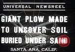 Image of giant plow Santa Ana California USA, 1937, second 2 stock footage video 65675038441