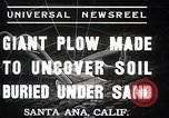 Image of giant plow Santa Ana California USA, 1937, second 4 stock footage video 65675038441