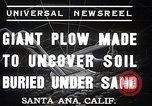 Image of giant plow Santa Ana California USA, 1937, second 5 stock footage video 65675038441