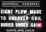 Image of giant plow Santa Ana California USA, 1937, second 8 stock footage video 65675038441