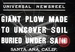 Image of giant plow Santa Ana California USA, 1937, second 9 stock footage video 65675038441