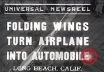 Image of aerobile with folding wings Long Beach California USA, 1937, second 1 stock footage video 65675038443