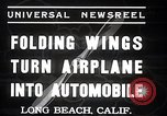 Image of aerobile with folding wings Long Beach California USA, 1937, second 6 stock footage video 65675038443