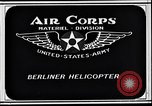 Image of Berliner helicopter Washington DC USA, 1925, second 3 stock footage video 65675038464