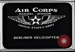 Image of Berliner helicopter Washington DC USA, 1925, second 5 stock footage video 65675038464