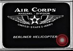 Image of Berliner helicopter Washington DC USA, 1925, second 7 stock footage video 65675038464