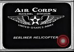 Image of Berliner helicopter Washington DC USA, 1925, second 8 stock footage video 65675038464