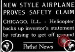 Image of Freak helicopter Chicago Illinois USA, 1925, second 2 stock footage video 65675038465