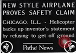 Image of Freak helicopter Chicago Illinois USA, 1925, second 7 stock footage video 65675038465