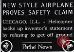 Image of Freak helicopter Chicago Illinois USA, 1925, second 8 stock footage video 65675038465