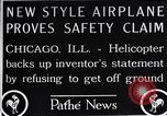 Image of Freak helicopter Chicago Illinois USA, 1925, second 9 stock footage video 65675038465
