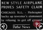 Image of Freak helicopter Chicago Illinois USA, 1925, second 10 stock footage video 65675038465