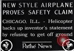 Image of Freak helicopter Chicago Illinois USA, 1925, second 11 stock footage video 65675038465