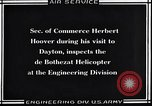 Image of De Bothezat helicopter test Dayton Ohio USA, 1922, second 10 stock footage video 65675038470