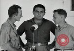 Image of Leopold Damrosch and Ned Davenport liberated internees Muntilupa Philippines, 1945, second 7 stock footage video 65675038482