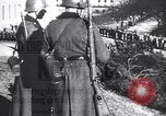 Image of German troops marching into Oslo Norway, 1940, second 1 stock footage video 65675038486