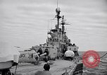 Image of American Cruiser USS Saint Paul Western Pacific Ocean, 1957, second 10 stock footage video 65675038495