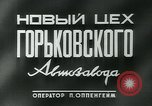 Image of Gorkovskogo auto factory Soviet Union, 1949, second 4 stock footage video 65675038627