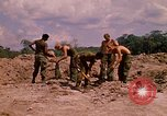 Image of 101st Airborne Division soldiers build bunkers Parrots Beak Cambodia, 1970, second 10 stock footage video 65675038731