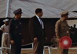 Image of flag raising ceremony Udorn Royal Thai Air Force Base Thailand, 1966, second 3 stock footage video 65675038782