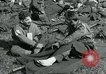 Image of wounded soldiers Saint Mere Eglise France, 1944, second 2 stock footage video 65675038875