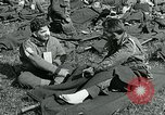 Image of wounded soldiers Saint Mere Eglise France, 1944, second 3 stock footage video 65675038875