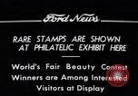 Image of Philatelic Exhibition Detroit Michigan USA, 1934, second 8 stock footage video 65675038927