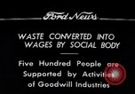 Image of Goodwill Industries Detroit Michigan USA, 1934, second 1 stock footage video 65675038928
