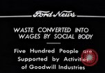Image of Goodwill Industries Detroit Michigan USA, 1934, second 4 stock footage video 65675038928