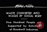 Image of Goodwill Industries Detroit Michigan USA, 1934, second 5 stock footage video 65675038928