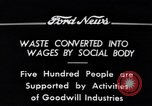 Image of Goodwill Industries Detroit Michigan USA, 1934, second 9 stock footage video 65675038928