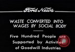 Image of Goodwill Industries Detroit Michigan USA, 1934, second 10 stock footage video 65675038928