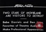 Image of Ben Lyon Detroit Michigan USA, 1934, second 2 stock footage video 65675038930