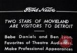 Image of Ben Lyon Detroit Michigan USA, 1934, second 10 stock footage video 65675038930