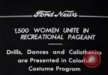 Image of Annual Recreational Pageant Detroit Michigan USA, 1934, second 5 stock footage video 65675038931