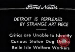 Image of statue of female Detroit Michigan USA, 1934, second 1 stock footage video 65675038935