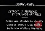 Image of statue of female Detroit Michigan USA, 1934, second 9 stock footage video 65675038935