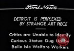 Image of statue of female Detroit Michigan USA, 1934, second 11 stock footage video 65675038935