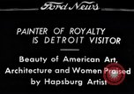 Image of Hapsburg Artist Detroit Michigan USA, 1934, second 1 stock footage video 65675038939