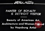Image of Hapsburg Artist Detroit Michigan USA, 1934, second 2 stock footage video 65675038939