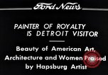 Image of Hapsburg Artist Detroit Michigan USA, 1934, second 3 stock footage video 65675038939
