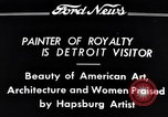 Image of Hapsburg Artist Detroit Michigan USA, 1934, second 4 stock footage video 65675038939