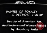 Image of Hapsburg Artist Detroit Michigan USA, 1934, second 5 stock footage video 65675038939