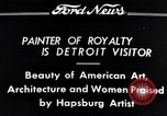 Image of Hapsburg Artist Detroit Michigan USA, 1934, second 6 stock footage video 65675038939